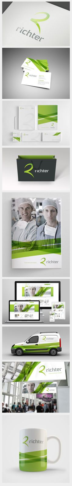 The basic website showed here looks kind of lame, but I love the brand! corporate ID / richter