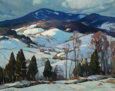 """""""Weston, Vermont,"""" Aldro T. Hibbard, oil on canvas, 24 1/8 x 30 1/4"""", Vose Galleries."""