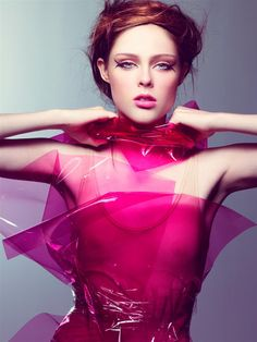 Pink Plastic - fashion photography; fashion editorial image // Coco Rocha by Craig McDean