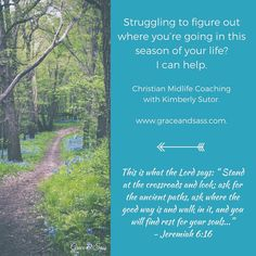 Struggling to figure out where you're going in this season of life? I can help. My name is Kimberly Sutor.and I am a Christian Midlife Coach.