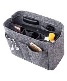 Love this Gray 12'' Handbag-Insert Organizer on #zulily! #zulilyfinds Felt Purse, Tote Purse, Lv Neverfull Mm, Luxury Purses, Handbag Organization, Purses And Handbags, Things To Sell, Multifunctional, Pockets