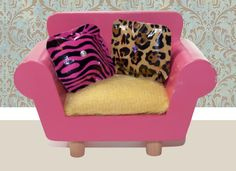 No Sew Barbie Throw Pillows ~ made with decorative duct tape & cotton balls