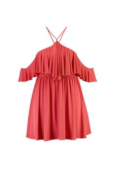 Plus Vik Double Layer Drape Sleeve Skater Dress