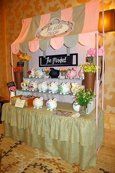 very cute! - painted pvc frame + awning signage… very cute! craft booth setup creative-displays Would like to - Vendor Displays, Craft Booth Displays, Vendor Booth, Display Ideas, Booth Ideas, Vendor Table, Jewelry Displays, Craft Show Booths, Craft Show Ideas