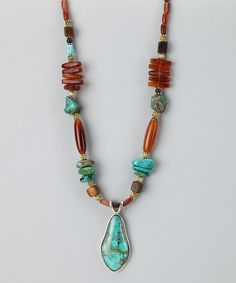 Take a look at this Turquoise Horn Necklace by Barse on #zulily today!