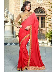 Elegant Red #Saree