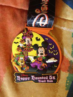 2013 Disney's Happy Haunted Trails 5K run medal. runDisney