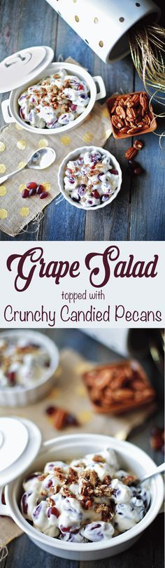 This was sooo good and refreshng! LOVED this grape salad recipe!