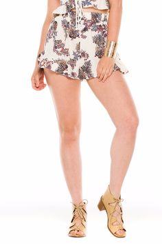 (ald) Floral print ruffle breezy shorts