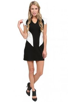 KAS New York Valentina Dress in Black/White  available at #Loehmanns