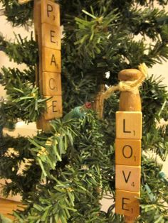 Scrabble Clothespin Ornaments are absolutely wonderful ornament crafts, especially if you have a Scrabble lover in your family!