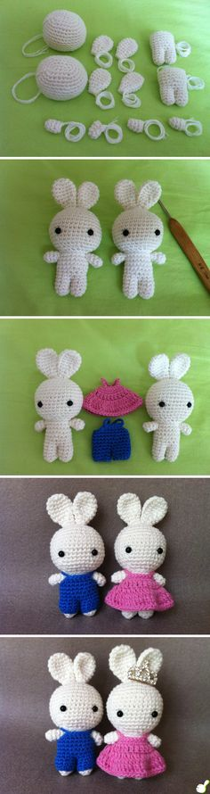 Free Crochet Pattern Amigurumi Rabbit Doll