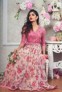 101 best lehenga saree photos by Indian Gowns Dresses, Indian Fashion Dresses, Indian Designer Outfits, Designer Dresses, Lehenga Designs, Kurta Designs, Long Gown Dress, Frock Dress, The Dress