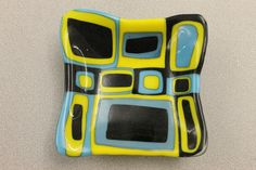 Square fused glass design