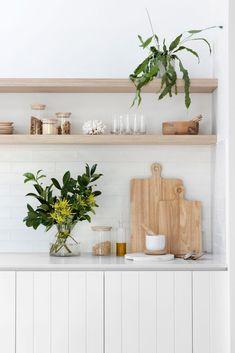 Kitchen Plants, Kitchen Jars, Kitchen Shelves, Kitchen Interior, Kitchen Decor, Round Wooden Coffee Table, Kitchen Benches, Wooden Kitchen Bench, Indoor Outdoor Living