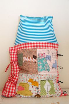 the medium-sized dollhouse pillow back by cakies