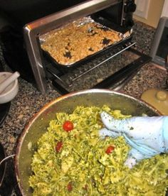 Make-ahead Party Pesto Pasta & Chicken Salad by Peggy Lampman
