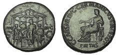 Ancient Coins - Caligula AD 37-41. Sestertius, temple of Divvs Avgvstvs
