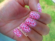 Pink Cheetah Print Nail Art Tutorial