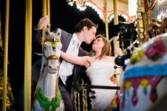 The Parisian carrousels are the perfect spots for kissing in the city of lights.