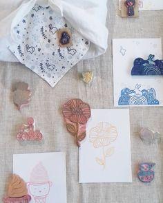 Algunos de mis sellos de muestra en la feria ilmondocreativohellip