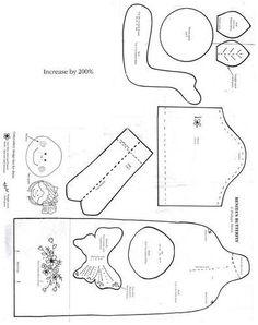 Moldes Para Artesanato em Tecido: Boneca de Pano com Molde