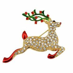 Merry christmas deer brooch ornaments accessories rhinestone christmas brooches and pins christmas pins brooches deer decoration Christmas Gift Images, Christmas Snowman, Red Christmas, Christmas And New Year, Christmas Tree Ornaments, Christmas Gifts, Christmas Shopping, Christmas Decorations, Holiday
