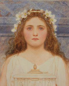 The Vestal Virgin - George Lawrence Bulleid   1904