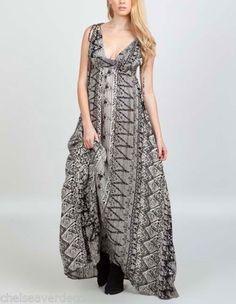 BEATNIK BABE to-the-floor Black Boho Hippie-chic Maxi Dress