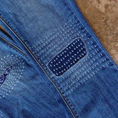 Boro-inspired Mending class happening soon! Are you going to be in the DFW area .- Boro-inspired Mending class happening soon! Are you going to be in the DFW area … Boro-inspired Mending class happening soon! Textiles, Shashiko Embroidery, Repair Jeans, Patching Jeans, Boro Stitching, Iron On Fabric, Visible Mending, Estilo Hippie, Make Do And Mend