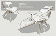 Case Study - Iconic Furniture Series on Behance Car Interior Sketch, Car Interior Design, Interior Design Sketches, Sketch Design, Automotive Design, Industrial Design Furniture, Industrial Design Sketch, Furniture Design, Sketch Inspiration
