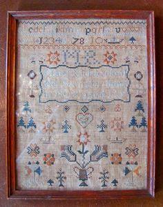 Antique English or American Sampler Mary Richardson 1807