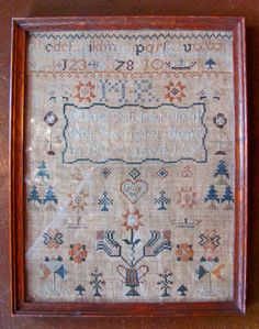 Antique English or American Sampler Mary Richardson 1807
