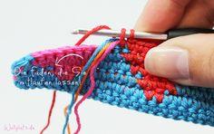 Tapestry Häkeln, die anderen  Fäden laufen mit...