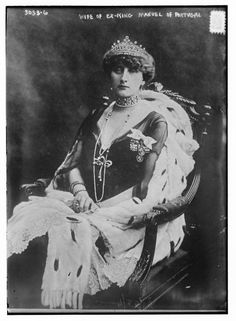 Augusta Victoria of Hohenzollern,queen consort of Portugal.