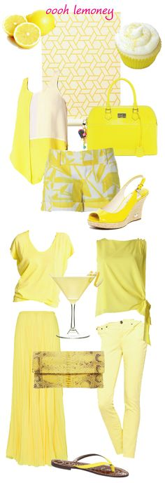 lemon yellow style, lovin it Yellow Style, Colour Yellow, Shades Of Yellow, Yellow Fashion, Colorful Fashion, Sheer Maxi Skirt, Lemon Sorbet, Style Ideas, Style Inspiration