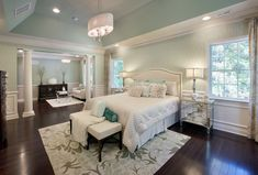 Toll Brothers- Love the greenish blue color on the wall.