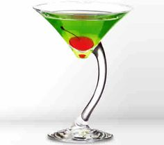St Pats Martini 2:     2 jiggers of gin   2 jiggers of crème de menthe   2 splashes of mint bitters