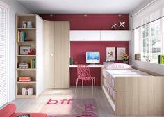 Habitación Juvenil con compacto y armario rincon