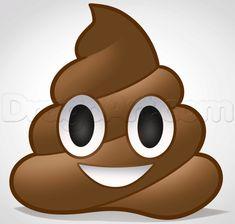 how to draw the poop emoji
