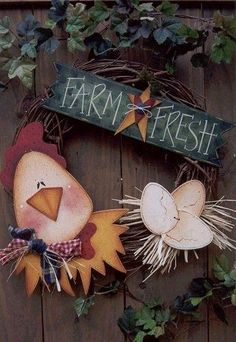 para cozinha Chicken Signs, Chicken Art, Farm Crafts, Country Crafts, Vinyl Crafts, Wooden Crafts, Tole Painting, Painting On Wood, Country Primitive