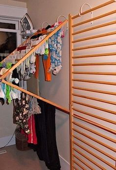 removable wall clothesline!