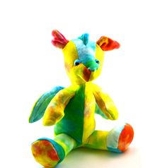 Stuffed Dragon Toy Plush by BrightLifeToys on Etsy, $50.00