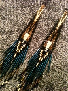 Electric Blue Extra Long  Native American  Beaded    от chezenlove, $38.50