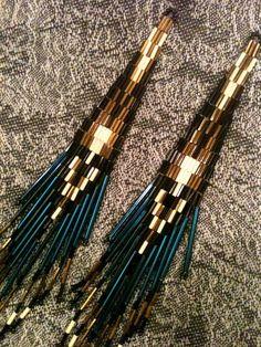 Electric Blue Extra Long  Native American  Beaded    от chezenlove, $38.50