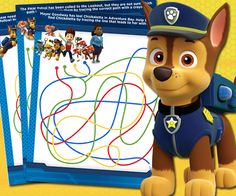 Preschoolers can show the PAW Patrol the way to save the day in this fun and educational printable.