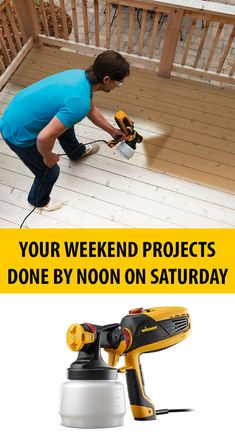 Exclusive discounts and special offers only available at Wagner SprayTech, the leader in paint sprayers, power rollers and heat guns. Outdoor Projects, Home Projects, Wagner Sprayer, Garden Yard Ideas, Decks And Porches, Building A Deck, Home Repair, Cool Tools, Painting Tips