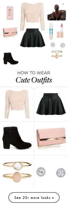"""""""Cute outfit"""" by stuff4m on Polyvore featuring Coast, Steve Madden, New Look, Rimmel, Maybelline and Accessorize"""