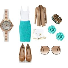 Teal & Lace, created by ktrujillo524 on Polyvore
