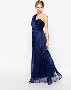 Enlarge True Decadence Wrap One Shoulder Maxi Prom Dress